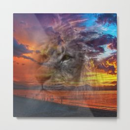 Magic Animals THE LION Metal Print