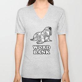 Word Bank Unisex V-Neck