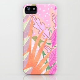 Modern Jungle Plants - Pink Green Purple iPhone Case
