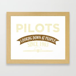 Pilot Proud Aviation Lover Gift Idea Framed Art Print
