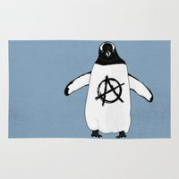 anarchy Area & Throw Rugs featuring Anarchy in the Antarctic by Christopher