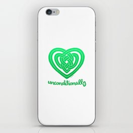 UNCONDITIONALLY in green iPhone Skin