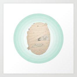 Murray the Happy Mummy Art Print
