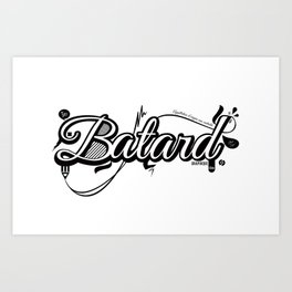 Batard Graphique Art Print