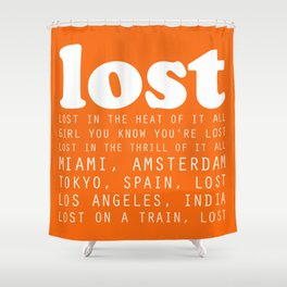 Lost Shower Curtain