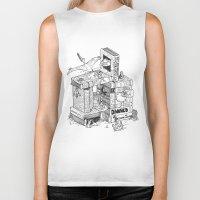 conan Biker Tanks featuring Worlds within Worlds by KadetKat