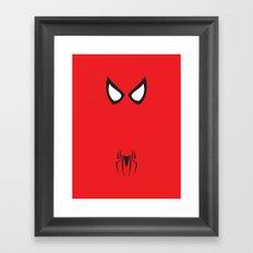 Spider-Man Minimalist Framed Art Print