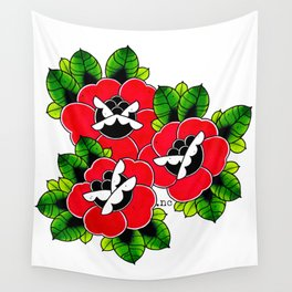 Traditional Roses  Wall Tapestry
