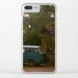 TRAVEL DAYS Clear iPhone Case