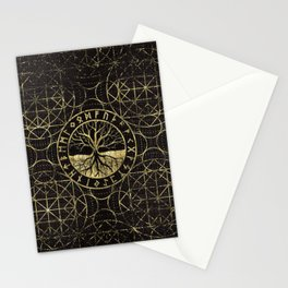 Tree of life  -Yggdrasil and  Runes Stationery Cards
