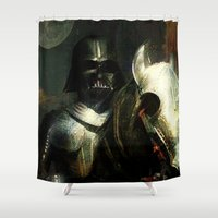 knight Shower Curtains featuring Knight Vader  by Ganech joe
