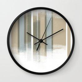 Neutral Retro Style Geometric Abstract - Codex Wall Clock