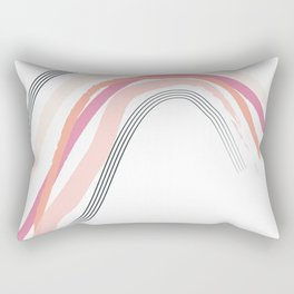 Pink Rainbow Rectangular Pillow