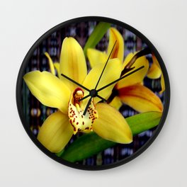 The Yellow Zone Wall Clock