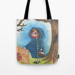 The little blue ridding hood Tote Bag