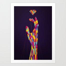Diamond Hand Art Print