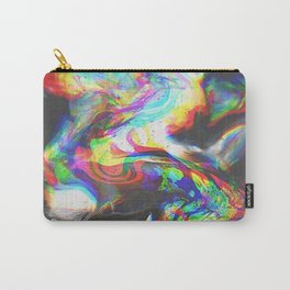 707   abstract paint pattern texture concept color colorful glitch psychedelic marble wavy distort l Carry-All Pouch