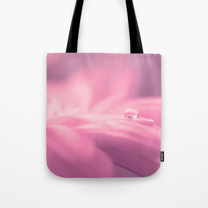 Lonely droplet pink daisy flower  - Floral on #Society6 Tote Bag