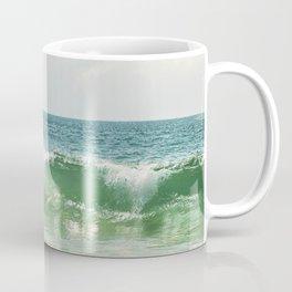 Ocean Sea Landscape Photography, Seascape Waves, Blue Green Wave Photograph Coffee Mug