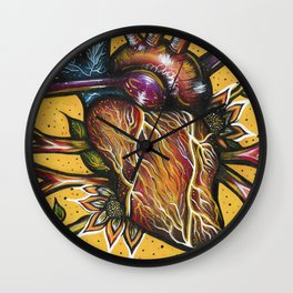 Blossoming Heart Wall Clock