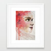 emily rickard Framed Art Prints featuring Emily by Autumn Chiu