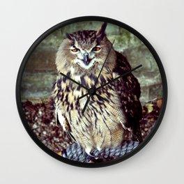Happy Owl. Wall Clock