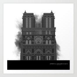 HexArchi - France, Paris, Cathedral of Notre Dame de Paris Art Print