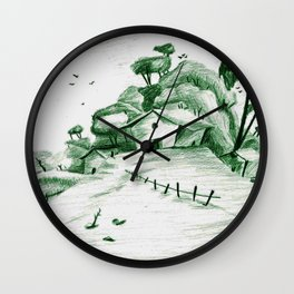 Little House on a Hill Wall Clock
