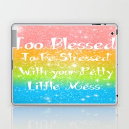 Too Blessed to Be Stressed Pastel Rainbow Series #1 Laptop & iPad Skin