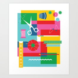 Craft Collage Art Print
