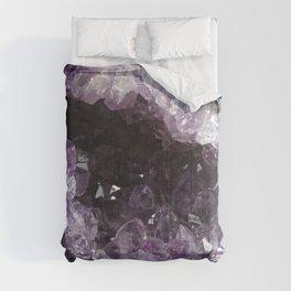 Amethyst Crystal Geode Sphere Comforters