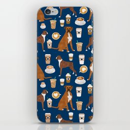 Boxer dog breed coffee pet gifts boxers pupuccino iPhone Skin