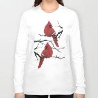 cardinal Long Sleeve T-shirts featuring Cardinal by Ben Geiger