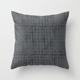 branco tipográfico 2 Throw Pillow