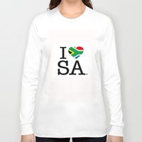 south africa Long Sleeve T-shirts featuring I LOVE SOUTH AFRICA by ROGUE AFRICA