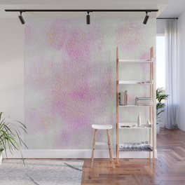 White Dots + Iridescence Pink Wall Mural