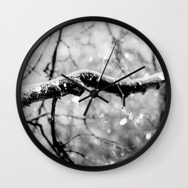Old Linden Tree On A Rainy Day Of Autumn Wall Clock