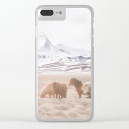 WILD AND FREE 3 - HORSES OF ICELAND Clear iPhone Case