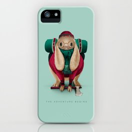 The Adventure Begins iPhone Case