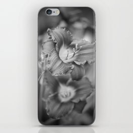 Lilies In Black And White iPhone Skin