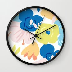 Painterly Blooms Wall Clock