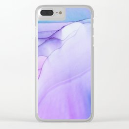 Sturdy Fluid ink abstract watercolor Clear iPhone Case