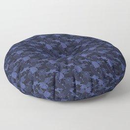 Atelier Siempre Cat Camo: Crowning Cobalt Floor Pillow