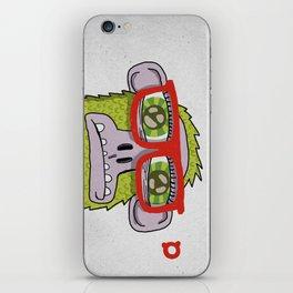 005_monkey glasses iPhone Skin