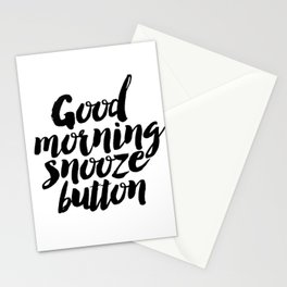 """PRINTABLE Art """"Good Morning Snooze Button"""" Good Morning But First Coffee Stationery Cards"""