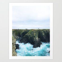 08. On cliff, Bretagne, france Art Print