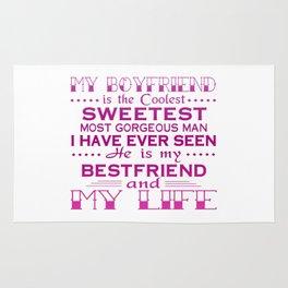 MY BOYFRIEND IS MY LIFE Rug