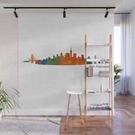 San Francisco City Skyline Hq v1 Wall Mural