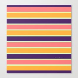 PURPLE STRIPE MIX Canvas Print