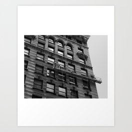 Look up New York 12 Art Print